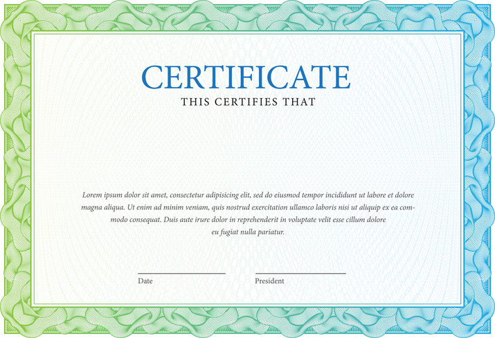 Certificate and diplomas template. Vector